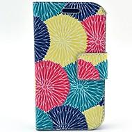 Для Кейс для  Samsung Galaxy Бумажник для карт / Флип / С узором Кейс для Чехол Кейс для Цветы Искусственная кожа Samsung Trend Lite