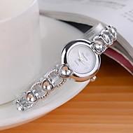 Dames Modieus horloge Kwarts Legering Band Glitter Heart Shape Zilver Wit Zwart Paars Roze Lichtblauw
