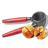 お買い得  キッチン用小物-クイックナットクラッカー金属クルミシェラープライヤー木製ハンドルハードコアオープナークッキーのキッチンツール