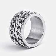 tanie Personalizowane dodatki do odzieży-Rings-Spersonalizowane BiżuteriaStal nierdzewna-srebrny