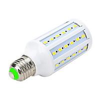 E26/E27 LED Spotlight LED Globe Bulbs LED Corn Lights T 60 leds SMD 5730 Warm White 1000-1200lm 3000-3500K AC 220-240V