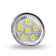4W GU4(MR11) LED-spotlights MR11 6 lysdioder SMD 5050 Dekorativ Kallvit 350lm 6000-6500K DC 12V