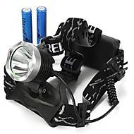 LS076 Stirnlampen Radlichter Schweinwerfer LED 2000/1600/1800/350 lm 3 Modus Cree XM-L T6 Stoßfest Wiederaufladbar Wasserfest