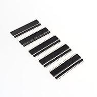 GDW AZ13 20-Pin 2.54mm Pitch Pin Headers - Black (10 PCS)