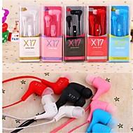 levne -V uchu Kabel Sluchátka Plastický Mobilní telefon Sluchátko s mikrofonem Sluchátka