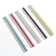 זול חלקי DIY-כותרות ססגוניות 40 פינים פינים המגרש 2.54mm (10 יח ')