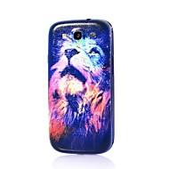løve mønster tynde hårde tilfælde dække for Samsung Galaxy S3 i9300