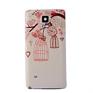 Для Samsung Galaxy Note С узором Кейс для Задняя крышка Кейс для дерево PC Samsung Note 4