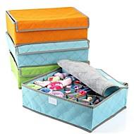 זול אחסון וסידור-טֶקסטִיל סיבי פחמן עם מכסה בית אִרגוּן, 1set סלי אחסון קופסאות אחסון