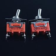 halpa DIY-osat-kytkin (jalkaa kakkosvaihteella) 15a 250Vac (2kpl)