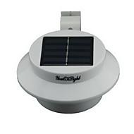 youoklight® yl0415 40lm 0.3w impermeable 3 conducido lámpara de pared del jardín de energía solar blanco cálido - blanco