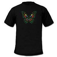 cheap LED T-shirts-LED T-shirts Sound activated LED lights Textile Stylish 2 AAA Batteries