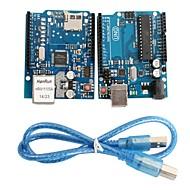 uno R3 bord modul + scut ethernet modul w5100 pentru Arduino