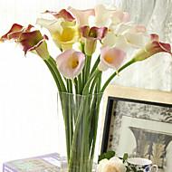 Plástico Lirios Flores Artificiales