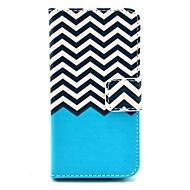 Недорогие Кейсы для iPhone-Коко fun® черный белый узор волна PU кожаный чехол с защитой экрана и USB-кабель и стилус для iPhone 4 / 4s