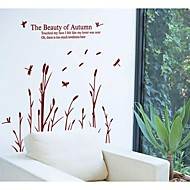 cheap Office Supplies-Paper Dragonfly Reed Wall Stickers