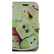 halpa Galaxy S -sarjan kotelot / kuoret-Etui Käyttötarkoitus Samsung Galaxy Samsung Galaxy kotelo Korttikotelo Tuella Flip Kuvio Suojakuori Piirretty PU-nahka varten S Advance