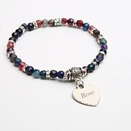 presente personalizado pulseiras vertente pedra natural bracelete de cristal turmalina negra para crianças