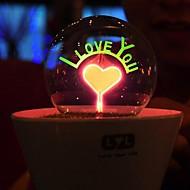 románticas fuegos artificiales flor luz de la noche llevó la lámpara de césped artificial plantas en macetas niños (color al azar)