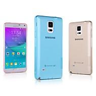 Для Samsung Galaxy Note Ультратонкий / Прозрачный Кейс для Задняя крышка Кейс для Один цвет TPU Samsung Note 4