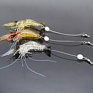 お買い得  釣り用アクセサリー-3 pcs ソフトベイト / ルアー ソフトベイト / エビ ソフトプラスチック 光る 海釣り / 川釣り / ルアー釣り
