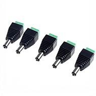 5,5 x 2,1 milímetros CCTV dc adaptador de tomadas de energia (5-pack)
