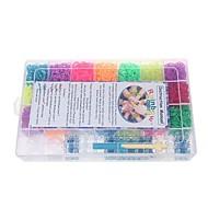 kleurrijke diy elastiekjes armbanden met 6300pcs bands en 100 s-clips in kunststof koffer