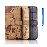 5,1 дюйма карты шаблон PU бумажник кожаный чехол с ручкой для Samsung Galaxy S6