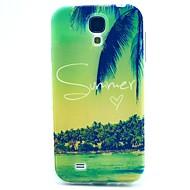 お買い得  携帯電話ケース-ケース 用途 Samsung Galaxy Samsung Galaxy ケース パターン バックカバー 風景 TPU のために S4 Mini