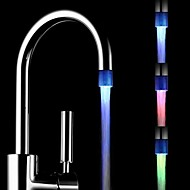 cheap Faucets-Changing Color Battery-Free  Water Powered Kitchen Colorful LED Faucet Light