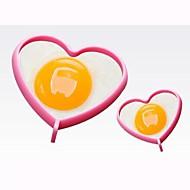 halpa Keittiötarvikkeet-sydämen muotoon korkean lämpötilan silikoni DIY hometta (random väri)