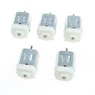 130 miniatyyri dc moottorit pieni moottori pieni nelipyöräinen moottori (5kpl)