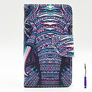 For LG etui Kortholder Pung Med stativ Flip Etui Heldækkende Etui Elefant Hårdt Kunstlæder for LG LG G3 LG G3 Beat / G3 Mini LG L90 LG L70