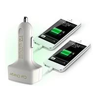 Недорогие Автомобильные зарядные устройства-многофункциональный автомобильное зарядное устройство отображения напряжения / ампер и температуры / Два USB порта 12v 3.1a автомобильное