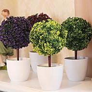 """abordables Flores Artificiales-10.2 """"h árbol de simulación en el florero blanco"""