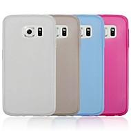 abordables HHMM-Para Funda Samsung Galaxy Ultrafina / Transparente Funda Cuerpo Entero Funda Un Color TPU Samsung S6 edge