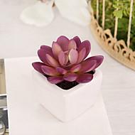 1 şube Plastik Bitkiler Masaüstü Çiçeği Yapay Çiçekler 7 x 7 x 10(2.76'' x 2.76'' x 3.94'')