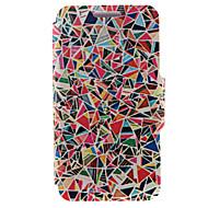 Для Кейс для Huawei / P8 / P8 Lite Бумажник для карт / со стендом / Флип Кейс для Чехол Кейс для Геометрический рисунок Твердый