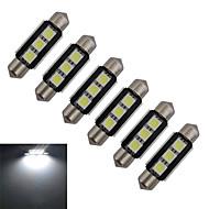 olcso Más LED fények-60-70 lm Festoon Dekoratív 3 led SMD 5050 Hideg fehér DC 12V