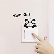 abordables Adhesivos Decorativos-Animales Pegatinas de pared Calcomanías de Aviones para Pared Calcomanías Para Los Interruptores de Luz, CLORURO DE POLIVINILO Decoración