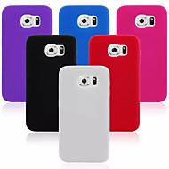szilikon anyag tervezés hátlap tok Samsung Galaxy S6 (vegyes színek)