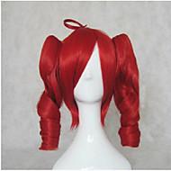 halpa -Synteettiset peruukit Löysät aaltoilevat Poninhännällä Tiheys Suojuksettomat Naisten Ruskea Vaaleahiuksisuus Punainen Lolita Wig