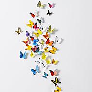 billige indretning til hjemmet-3d sommerfugl pvc wall stickers væg kunst decals (38 pcs et sæt)