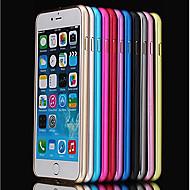 Недорогие Кейсы для iPhone 8 Plus-Кейс для Назначение Apple iPhone 8 / iPhone 8 Plus / iPhone 6 Plus Защита от удара / Ультратонкий Бампер Однотонный Твердый Металл для iPhone 8 Pluss / iPhone 8 / iPhone 7 Plus