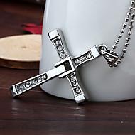 personlig gåva snabbt rasande rostfritt stål kors hänge halsband graverad smycken
