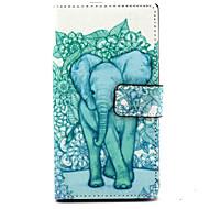 billige Mobilcovers-For Nokia etui Pung Kortholder Med stativ Etui Heldækkende Etui Elefant Hårdt Kunstlæder for Nokia Nokia Lumia 830