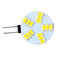 billige LED-lamper med G-sokkel-3W G4 LED-lamper med G-sokkel 15 leds SMD 5730 Varm hvid Kold hvid 350lm 2800-3500/6000-6500K Vekselstrøm 12V