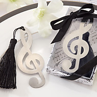 Musical Note Pattern Tassels Alloy Bookmark