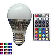 お買い得  LED ボール型電球-lm E26/E27 LEDボール型電球 A50 1 LEDの ハイパワーLED 調光可能 装飾用 リモコン操作 RGB AC85-265V