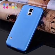 kuntosali ohut läpinäkyvä matta pehmeä kotelo Samsung Galaxy S5 mini (eri värejä)